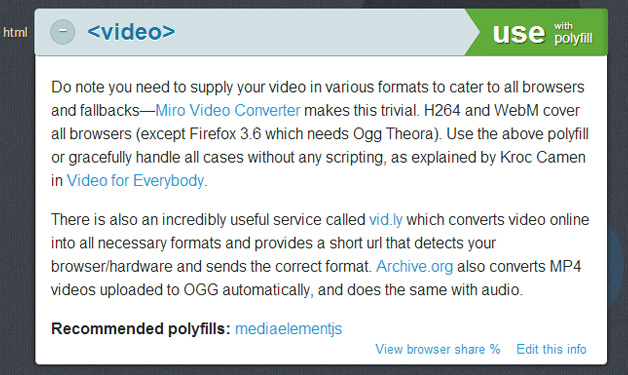 HTML5Please Video