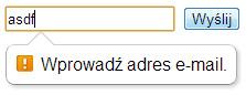 Walidacja e-mail Google Chrome