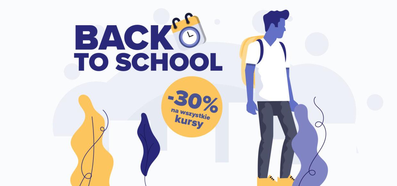 BACK TO SCHOOL -30% na wszystkie kursy!